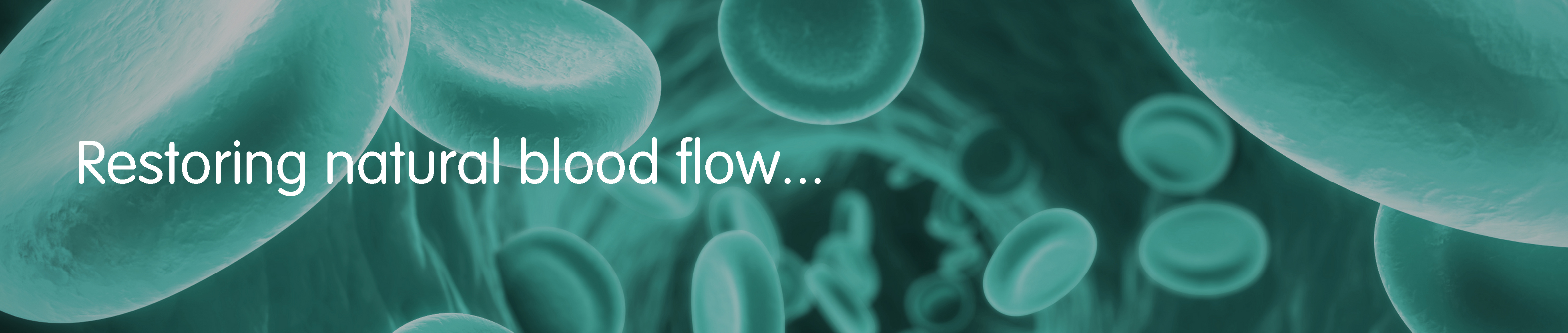 VASCULAR FLOW - WEBSITE BANNERS - GREEN BLOOD CELLS - RESTORING NATURAL BLOOD FLOW